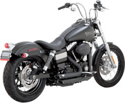 Vance And Hines Black Shortshots Staggered Exhaust 12-17 Harley Dyna Fxdb Fxdc