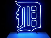 New Detroit Tigers Artwork Real Glass Neon Sign 32x24 Beer Lamp Light