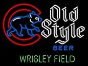 New Old Style Walking Cubby Wrigley Field Neon Sign 32x24 Beer Lamp Light