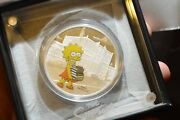 2019 The Simpsons Lisa 1 Oz Silver Proof Coin Perth Mint Presentation Case Coa