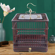 Large Bird Cage Parrot Finch Cage Macaw Cockatoo Wooden Pet Play House W/drawer