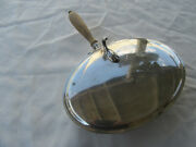 Antique Sterling Silver Bed Warmer With Wood Handle 3 Silver Marks On Bottom