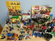 Vintage Lego Lot Medival, Pirates, Space - Dozens Of Minifigures And More