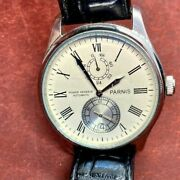 Parnis Power Reserve Automatic Mens Watch White Dial Full 42mm