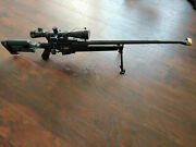 Ares Pgm Bolt Action Sniper Gas Airsoft Rifle 6mm Black, Scope , Bipod, Rare.