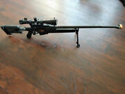 Ares Pgm Bolt Action Sniper Gas Airsoft Rifle 6mm Black Scope Bipod Rare.