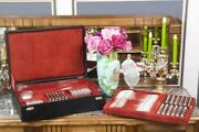 French Antiques Silver Plate Cutlery Full Set Boxed