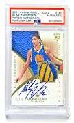 2012-13 Panini Immaculate Klay Thompson 92/99 Rookie Patch Auto Psa Authentic