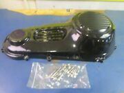 Powder Coated Primary Ribbed Inspection And Derby Cover Harley Softail 1994-06