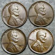 1911-d 1913-d 1916 1923 Lincoln Cent Wheat Penny ---- Nice Lot ---- R620