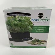 New Miracle-gro Aerogarden Harvest - 6-pod Hydroponic Home System Led 100641-blk