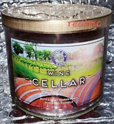 Wine Cellar Bath And Body Works 3 Wick 14.5 Oz Candle Free Shipping New Original
