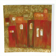 Modern Painting Hand Painted On Sheet Glass With Polish Fixed A Fire New