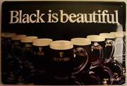 Guinness Black Is Beautiful Tin Sign Shield 3d Embossed 7 7/8x11 13/16in