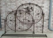 Vintage Metal Bed Frame With Headboard And Footboard Full Size Cherubs Angels