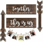 4 Pieces Farmhouse Wall Decor, This Is Us Wooden Sign And Together Art Sign