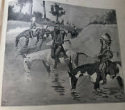 Native Americans By Frederick Remington Print From Done In The Open Book 1902