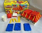 Mcdonalds Restaurant Playdoh 2003 With Box Clean Arch Nuggets Shake Blue Trays