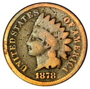 1878 Indian Head 1 Cent Penny G Good Priced Right Inv2