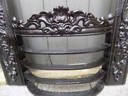 Vintage Antique Fire Grate Grill Fireplace Iron Front Bars Rare Georgian 18 3
