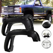For 88-98 Chevy Gmc C/k 1500 Smooth Surface Pocket Rivet Style Fender Flares 4pc