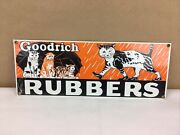 Sealed Goodrich Rubbers Sign Cats In Rain Reproduction Porcelain Ande Rooney 14andrdquo