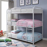 Acme Modern Cairo Bunk Bed-white Triple Room Bedroom Furniture 79 X 42 X 74 H