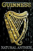 Guinness Natural Anthem Tin Sign Shield 3d Embossed Metal 7 7/8x11 13/16in