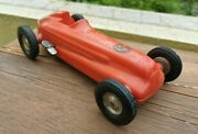 Vintage Rite Spot Red Plastic Wind Up Toy 9 Race Indy Car 6