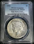 1921 Peace Silver Dollar Pcgs Unc Detail Mint State High Relief Key Date