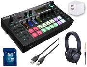 Roland Mc-101 Starter Set Headphones Usb Power Adapter Cable Sdhc Card With 8gb-