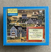 """New Mb Charles Wysocki's Americana Puzzles 1000 Pieces """" Sunset Bay"""" Ages 12+"""