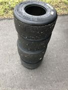 """Mg Yellow Sm Tires 2-10x4.60-5"""" + 2-11x7.1 Used Racing Go Kart Current Style"""