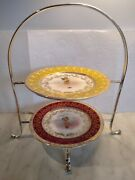 Famous Walker Hall Antique English 2 Tier Afternoon Tea Cake Stand Complete