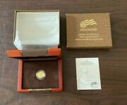 2008-w American 1/10th Oz Gold Buffalo Burnished 5 Coin With Box And Coa