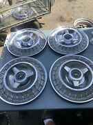 1963 Ford Thunderbird Hub Caps 14and039 Spinner Hubcap Oem Set Of 4 Wheel Covers 63