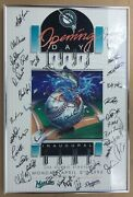 1993 Miami Marlins Inaugural Game Limited Edition Poster Framed Signed By 36 Pl