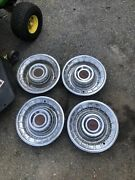 1956 Cadillac Hub Caps 15 Set Of 4 Caddy Wheel Covers Hubcaps 56