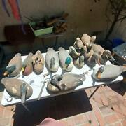 15 Vintage Duck Decoy Lot W/anchor Weights