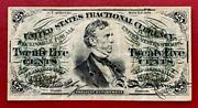 1863 Us Fractional Currency 25c Note