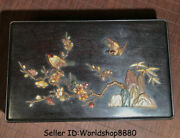 10.4 Antique Chinese Rosewood Wood Inlay Shell Dyansty Flower Birds Storage Box