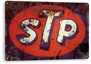 Stp Tin Sign Studebaker Tested Product Formula One Team Oil Lubricant Garage