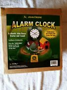 Vintage John Deere Moving Tractor And Sounds Farm Alarm Clock Batteryandrsquos Only