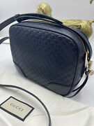 Hot Bree Guccissima Leather Disco Bag Midnight Blue Messenger Bag 449418