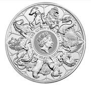Pre-sale 1 Kilo 32.15oz Queen Beasts Completer 9999 Fine Silver-limited Mintage