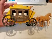 Vintage Wells Fargo Stagecoach W/ Horses And Driver
