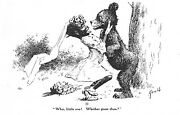 E. W. Kemble Why Little One Whither Goes  Black Americana Comic Vtg Postcard