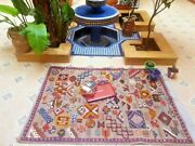 Antique Rare Rug Christmas Present Rug Beni Ourain Wool Rug 62' X 47' Inches
