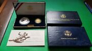 1997 Jackie Robinson 50th Anniversary Commemorative Coin Proof Set Gold And Silver