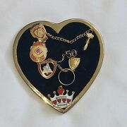 Vintage Wotm Women Of The Moose Heart And 7 Pins